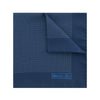 Dark Navy Silk Handkerchief with White Pin Spots