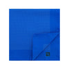 Royal Blue Silk Handkerchief with White Pin Spots