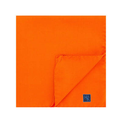 Plain Orange Silk Handkerchief