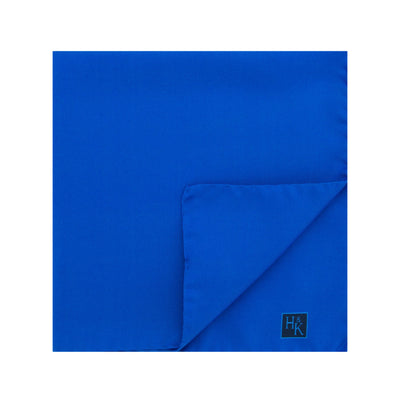 Plain Royal Blue Silk Handkerchief