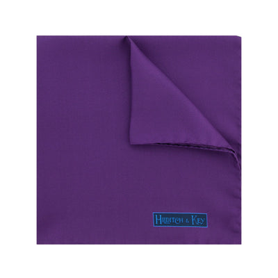 Plain Purple Silk Handkerchief