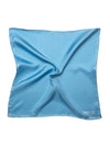 Sky Blue Silk Handkerchief with White Spots