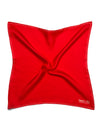 Red Silk Handkerchief with White Spots