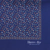 Navy Small Paisley Silk Handkerchief