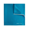 Plain Blue Silk Handkerchief