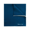 Plain Navy Silk Handkerchief