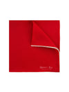 Plain Red Silk Handkerchief