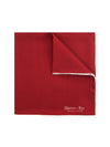 Plain Deep Red Silk Handkerchief