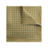 Light Brown Silk Handkerchief with White Spots