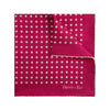 Red Silk Handkerchief with White Large Spots