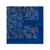 Royal Blue Silk Handkerchief with Navy Floral
