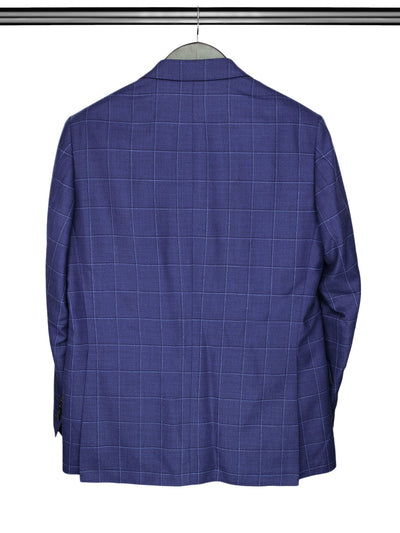 Navy & Blue Checked Woollen Mix Jacket
