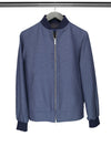 Navy & Cream Birdseye Cotton Jacket
