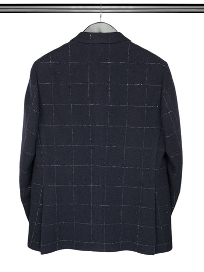 Navy Woollen Mix Jacket