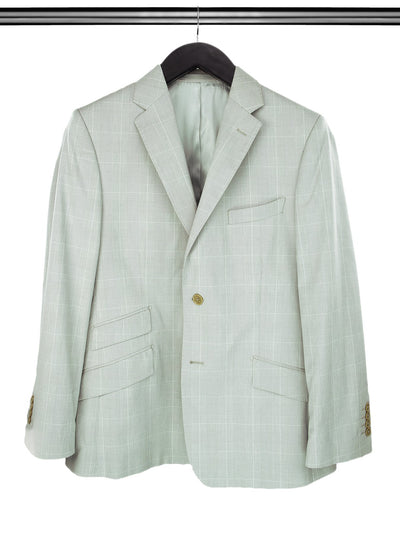 Grey Cotton Checked Jacket