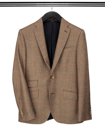 Brown & Tan Large Checked Jacket