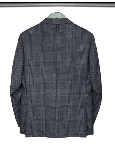 Black, Grey & Navy Checked Jacket