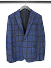 Blue Checked Woollen Jacket