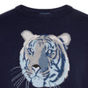 Big Cat Sanctuary Cashmere Sweater In Navy