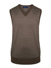 Sleeveless V-Neck Merino Wool Slipovers