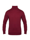 Plain Raspberry 2-Ply Extra Fine Merino Wool Roll Neck Pullover