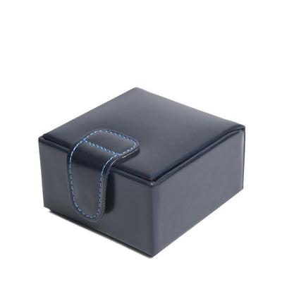 Navy Leather Small Stud Box