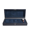 Navy Leather Five Watch Box