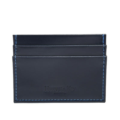 Navy Leather Double Sided Card Case