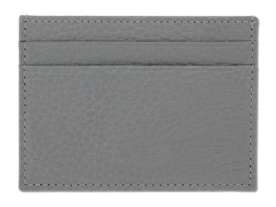 Grey Calf Leather Double Sided Card Holder