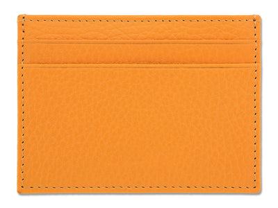 Yellow Calf Leather Double Sided Card Holder