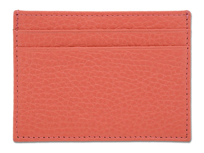Pink Calf Leather Double Sided Card Holder