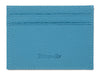 Light Blue Calf Leather Double Sided Card Holder