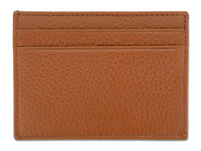 Tan Calf Leather Double Sided Card Holder