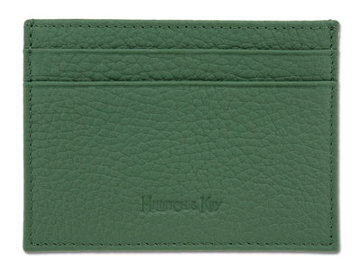 Dark Green Calf Leather Double Sided Card Holder