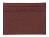 Burgundy Calf Leather Double Sided Card Holder