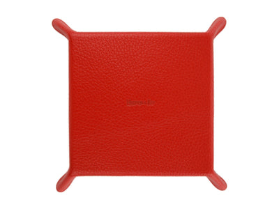 Red Calf Leather with Black Suede Travel Tray