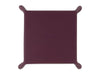 Purple Calf Leather with Dark Green Suede Travel Tray