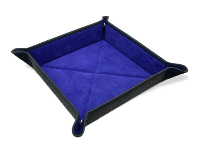 Navy Calf Leather with Purple Suede Travel Tray