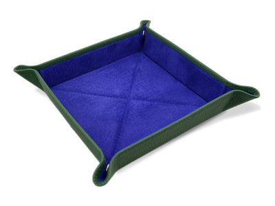 Dark Green Calf Leather with Purple Suede Travel Tray