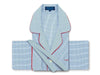 Classic Pyjamas in a Navy & White Classic Check Poplin Cotton with Red Piping