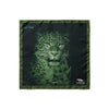 Big Cat Sanctuary Atara Silk Pocket Square In Green