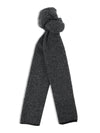 Black & Grey Birdseye Knitted Cashmere Scarf