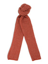 Red & White Birdseye Knitted Cashmere Scarf