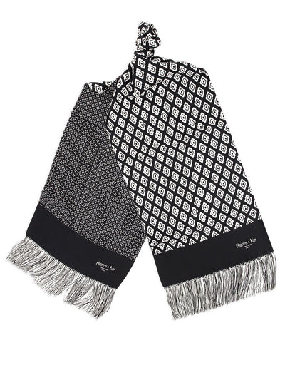 Black & White Reversible Silk Scarf
