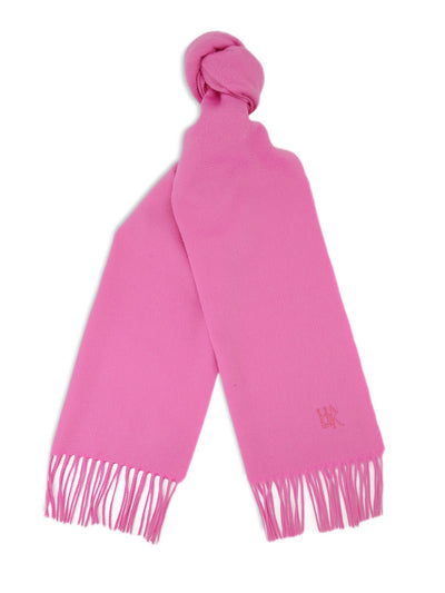 Plain Peony Pink 100% Cashmere Scarf