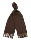 Plain Chocolate Brown 100% Cashmere Scarf