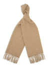 Plain Light Natural 100% Cashmere Scarf