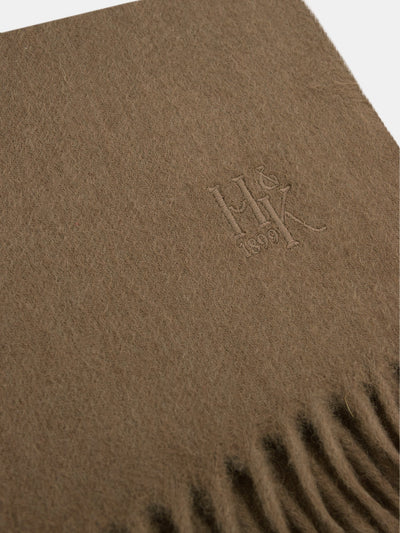 Plain Brown 100% Cashmere Scarf