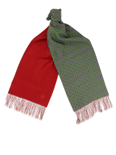 Red Cashmere Reversible Scarf