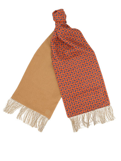 Sand Cashmere Reversible Scarf